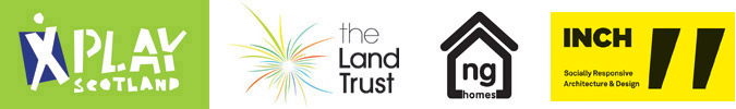 Event sponsors, Play Scotland,the Land Trust, NG Homes and INCH