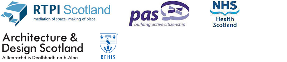 Supporting Partners, RTPI Scotland, PAS, NHS Health Scotland, Architecture & Design Scotland, REHIS